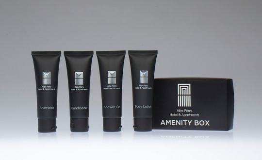 Alex Perry custom amenities