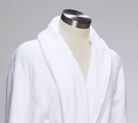 Terry cloth bath robe for hotels