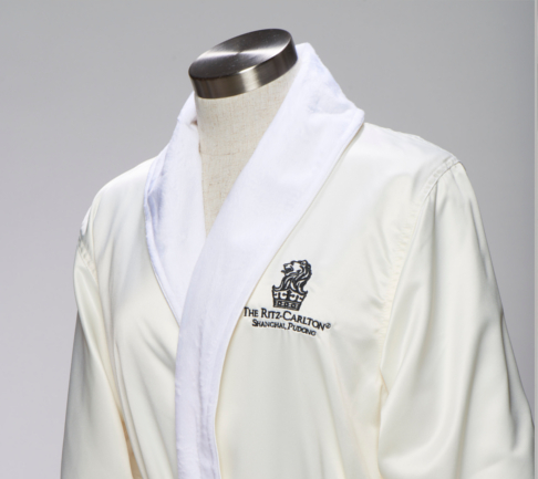 Imitation silk and Microfibre Double Layer Ritz Carlton hotel robe