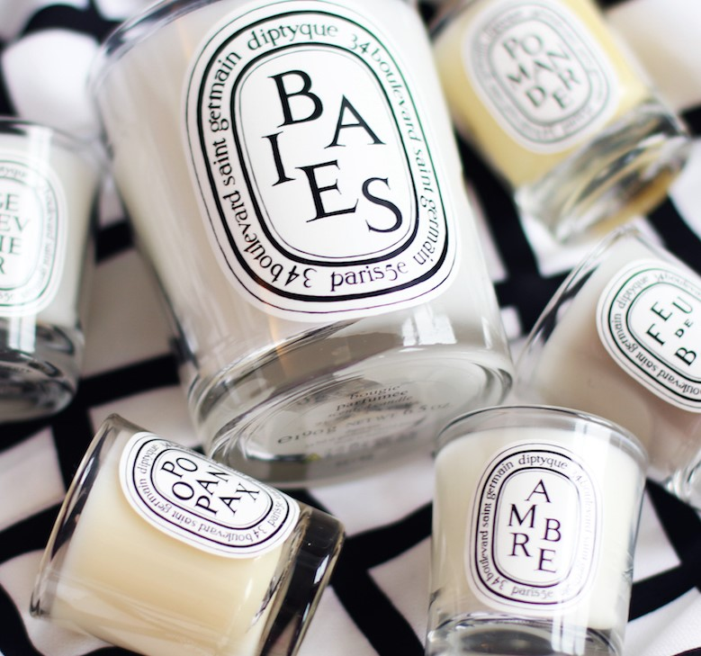 Diptyque hotel toiletries candles