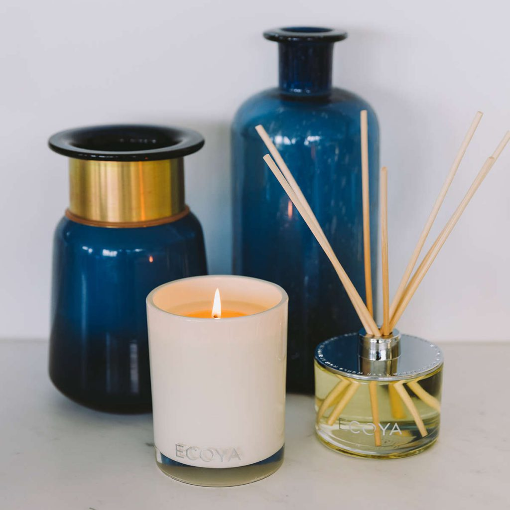 Ecoya candle and reed diffuser in situ